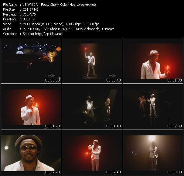 Will.I.Am Feat. Cheryl Cole Video Clip(VOB) vob