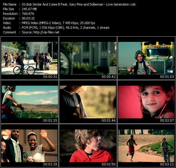 Bob Sinclar And Cutee B Feat. Gary Pine And Dollarman Video Clip(VOB) vob