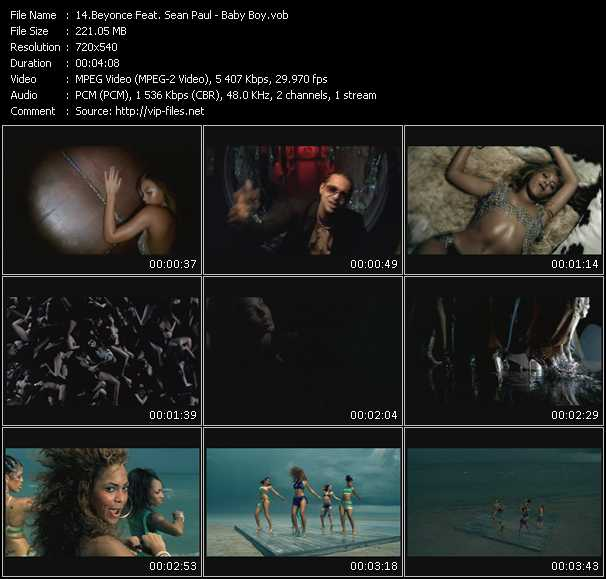 Beyonce Feat. Sean Paul Video Clip(VOB) vob