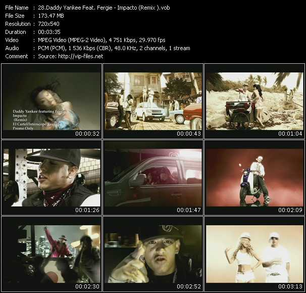 Daddy Yankee Feat. Fergie Video Clip(VOB) vob