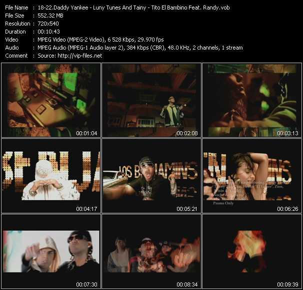 Daddy Yankee - Luny Tunes And Tainy Feat. Daddy Yankee, Tonny Tun Tun, Hector El Father, Zion, Wisin And Yandel - Tito El Bambino Feat. Randy Video Clip(VOB) vob