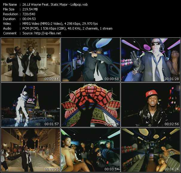 Lil' Wayne Feat. Static Major Video Clip(VOB) vob
