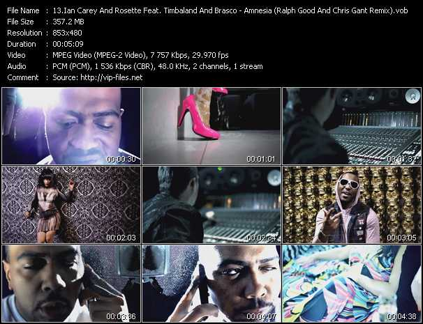 Ian Carey And Rosette Feat. Timbaland And Brasco Video Clip(VOB) vob