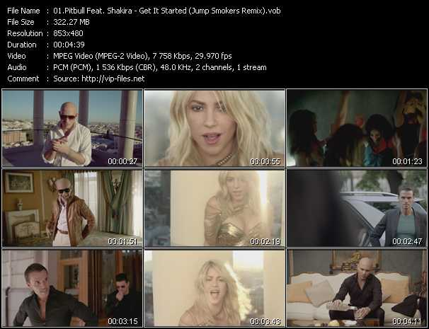 Pitbull Feat. Shakira Video Clip(VOB) vob