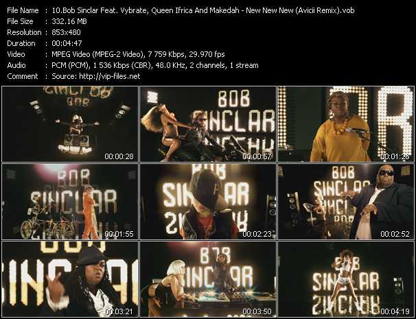 Bob Sinclar Feat. Vybrate, Queen Ifrica And Makedah Video Clip(VOB) vob
