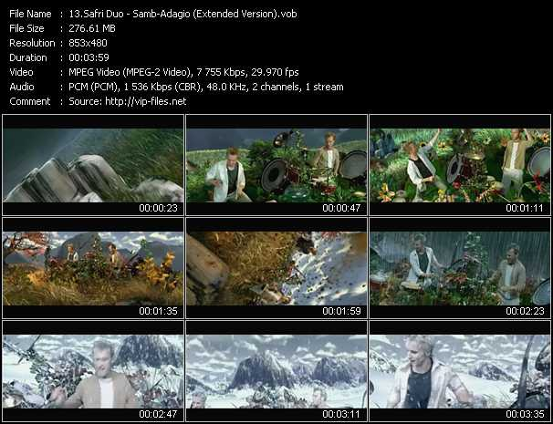 Safri Duo Video Clip(VOB) vob