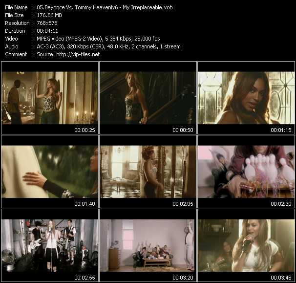 Beyonce Vs. Tommy Heavenly6 Video Clip(VOB) vob