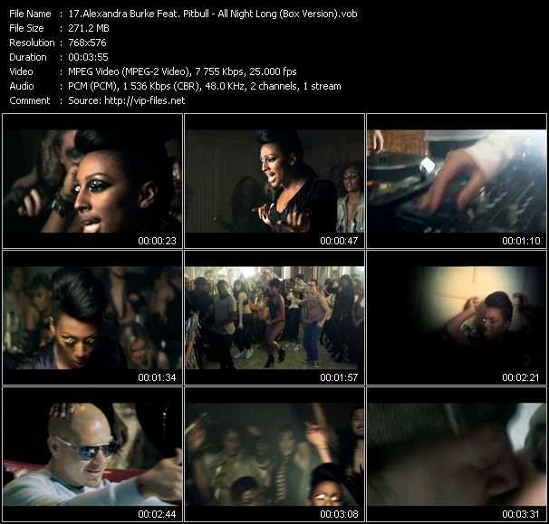 Alexandra Burke Feat. Pitbull Video Clip(VOB) vob