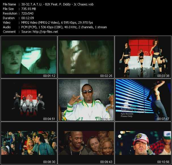T.A.T.U. - B2K Feat. P. Diddy (Puff Daddy) - Jc Chasez Video Clip(VOB) vob