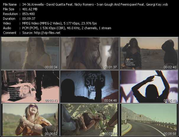 Krewella - David Guetta Feat. Nicky Romero - Ivan Gough And Feenixpawl Feat. Georgi Kay Video Clip(VOB) vob