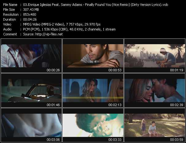 Enrique Iglesias Feat. Sammy Adams Video Clip(VOB) vob