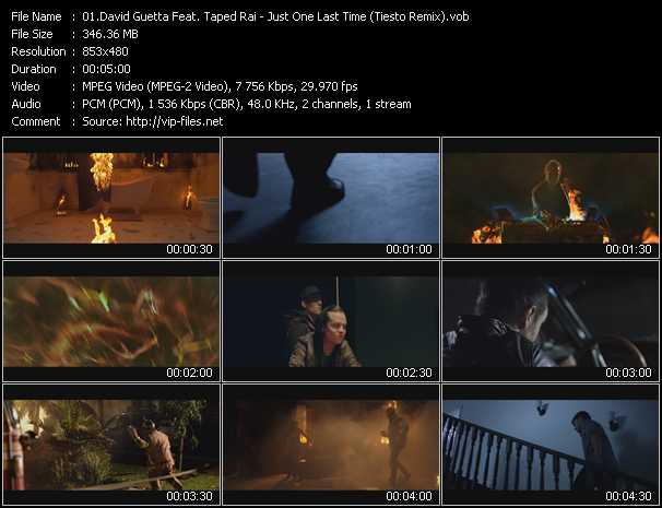 David Guetta Feat. Taped Rai Video Clip(VOB) vob