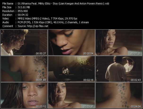 Rihanna Feat. Mikky Ekko Video Clip(VOB) vob
