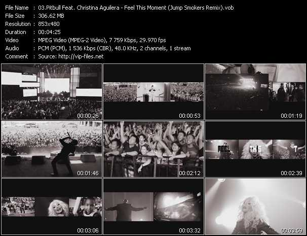 Pitbull Feat. Christina Aguilera Video Clip(VOB) vob