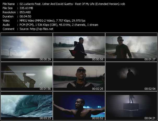 Ludacris Feat. Usher And David Guetta Video Clip(VOB) vob