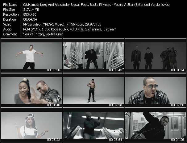Hampenberg And Alexander Brown Feat. Busta Rhymes And Shonie Video Clip(VOB) vob