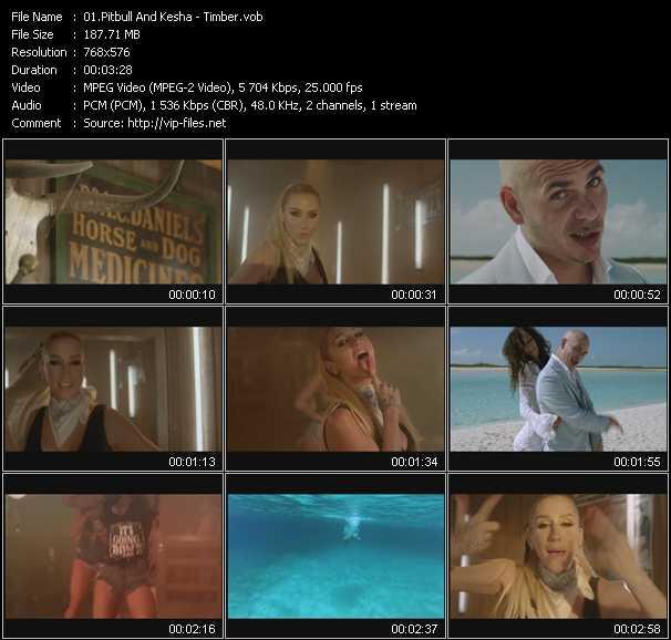Pitbull And Kesha Video Clip(VOB) vob