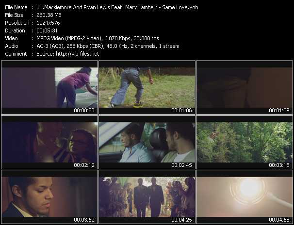 Macklemore And Ryan Lewis Feat. Mary Lambert Video Clip(VOB) vob