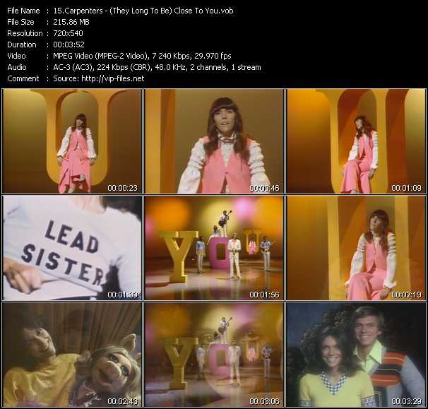 Carpenters Video Clip(VOB) vob