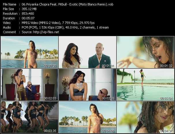 Priyanka Chopra Feat. Pitbull Video Clip(VOB) vob