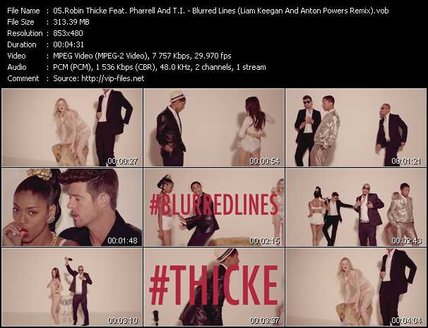 Robin Thicke Feat. Pharrell Williams And T.I. Video Clip(VOB) vob