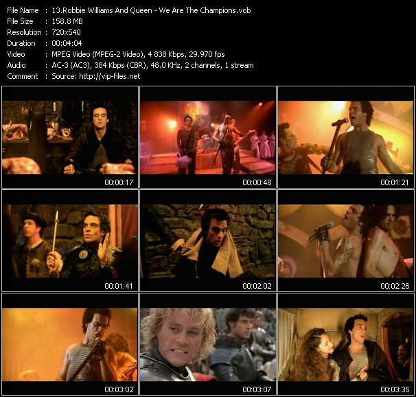 Robbie Williams And Queen Video Clip(VOB) vob