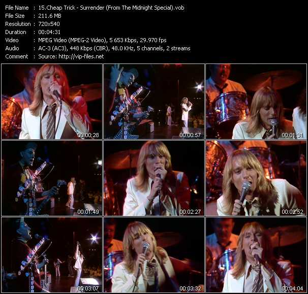 Cheap Trick Video Clip(VOB) vob