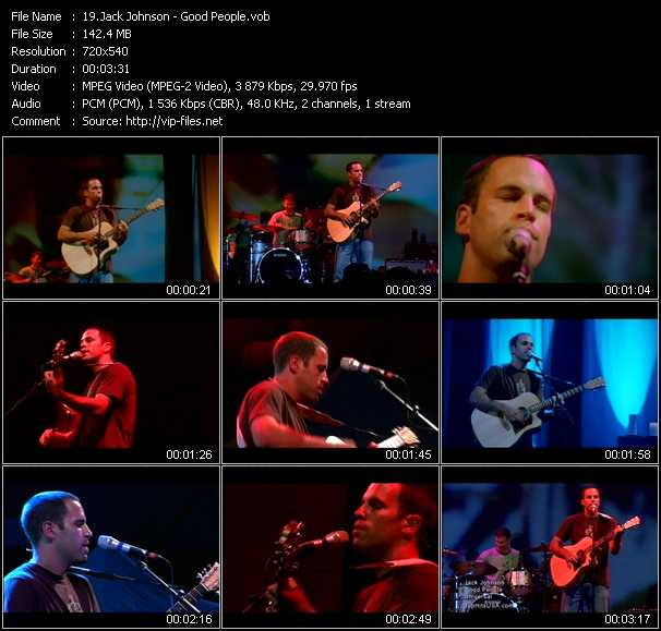 Jack Johnson Video Clip(VOB) vob