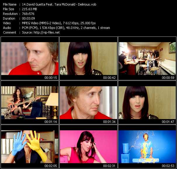 David Guetta Feat. Tara McDonald Video Clip(VOB) vob
