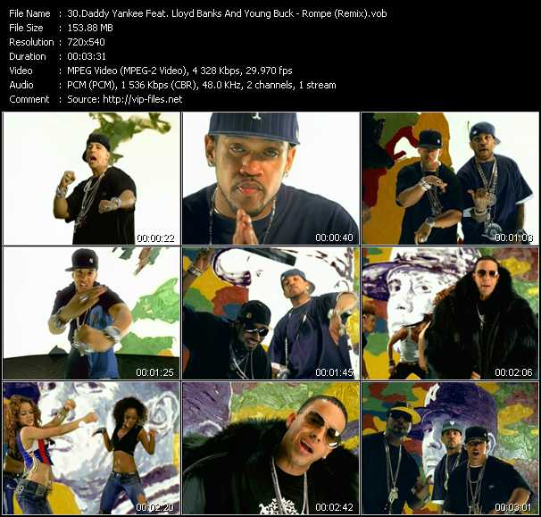 Daddy Yankee Feat. Lloyd Banks And Young Buck Video Clip(VOB) vob