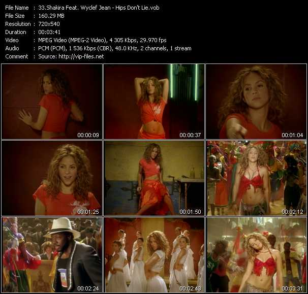 Shakira Feat. Wyclef Jean Video Clip(VOB) vob