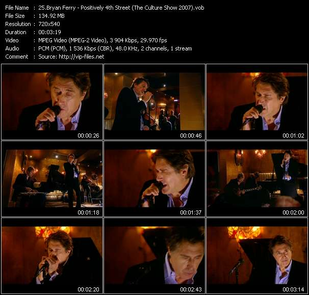 Bryan Ferry Video Clip(VOB) vob