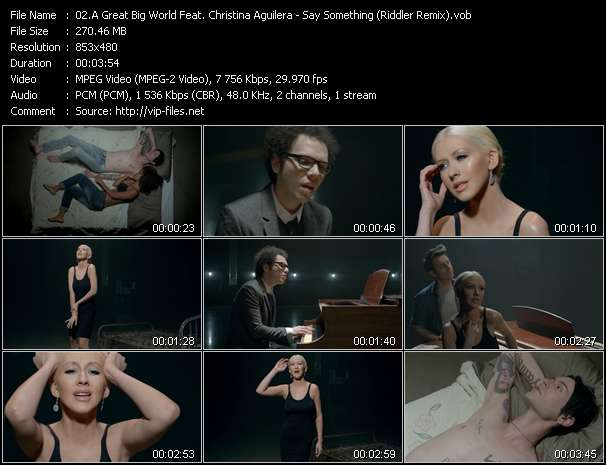 A Great Big World Feat. Christina Aguilera Video Clip(VOB) vob