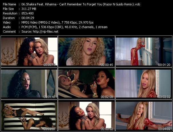 Shakira Feat. Rihanna Video Clip(VOB) vob