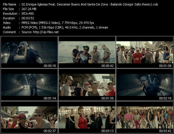 Enrique Iglesias Feat. Descemer Bueno And Gente De Zona Video Clip(VOB) vob