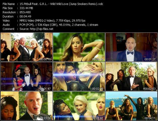 Pitbull Feat. G.R.L. Video Clip(VOB) vob