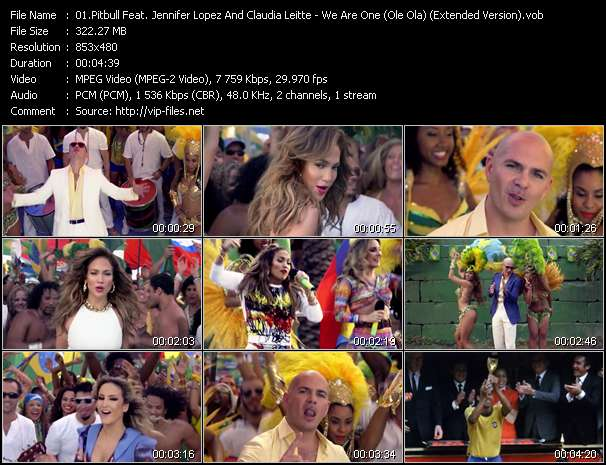 Pitbull Feat. Jennifer Lopez And Claudia Leitte Video Clip(VOB) vob