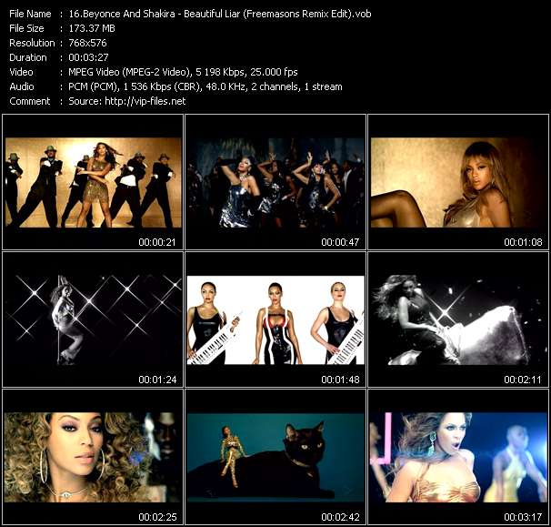 Beyonce And Shakira Video Clip(VOB) vob