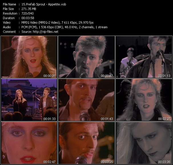 Prefab Sprout Video Clip(VOB) vob