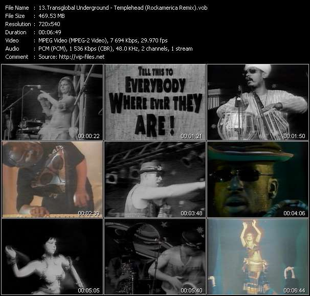 Transglobal Underground Video Clip(VOB) vob