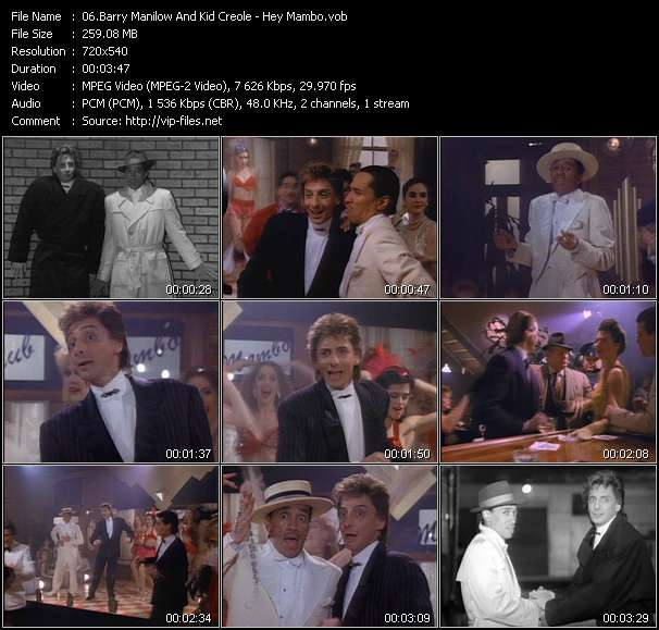 Barry Manilow And Kid Creole Video Clip(VOB) vob