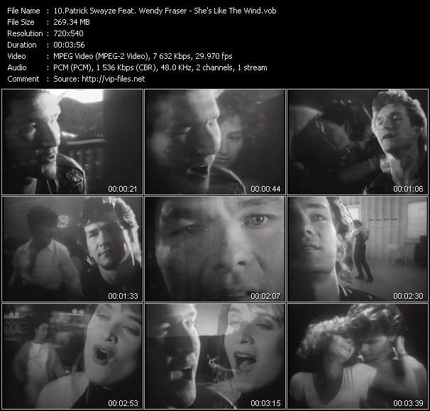 Patrick Swayze Feat. Wendy Fraser Video Clip(VOB) vob