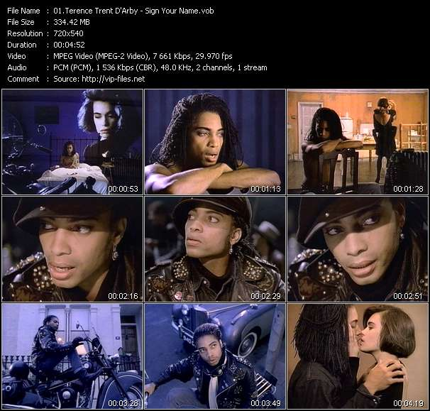 Terence Trent D'Arby Video Clip(VOB) vob
