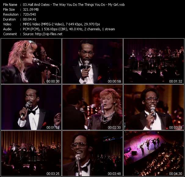 Hall And Oates (Daryl Hall And John Oates) With David Ruffin And Eddie Kendrick Video Clip(VOB) vob