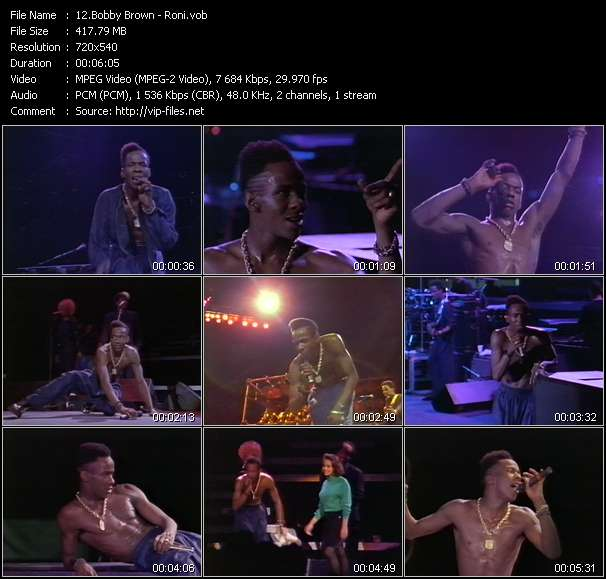 Bobby Brown Video Clip(VOB) vob