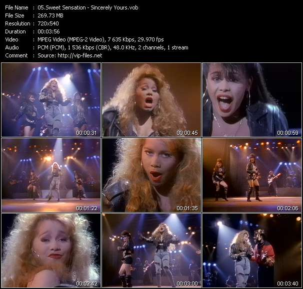 Sweet Sensation Video Clip(VOB) vob