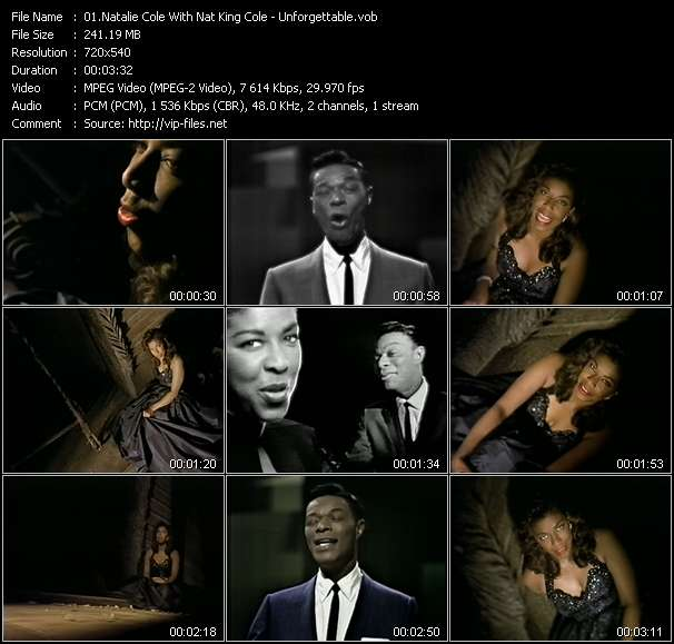 Natalie Cole With Nat King Cole Video Clip(VOB) vob