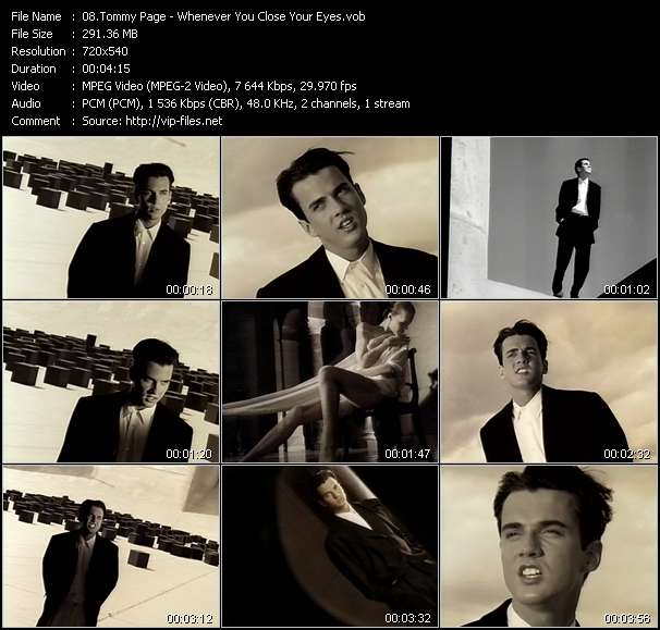 Tommy Page Video Clip(VOB) vob