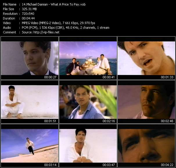 Michael Damian Video Clip(VOB) vob