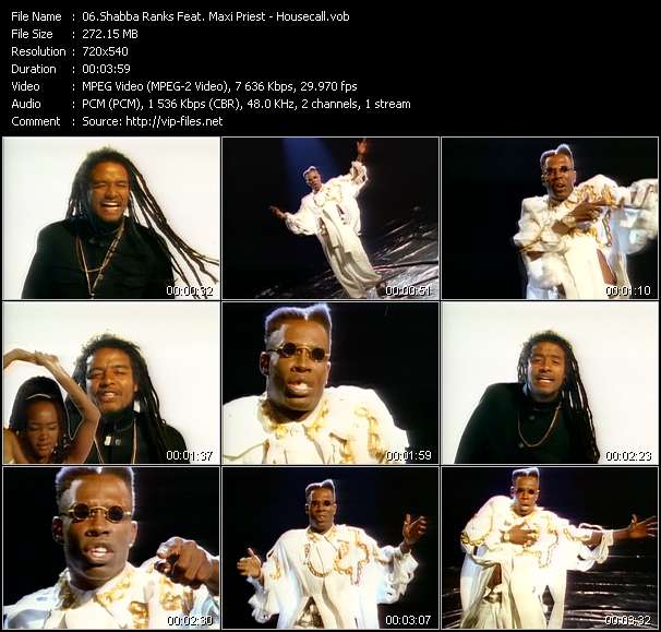 Shabba Ranks Feat. Maxi Priest videoclip vob